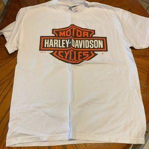 White Harley Davidson T Shirt
